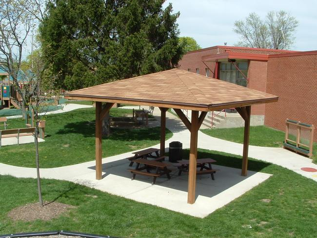 Wood Picnic Shelter http://www.meyerdesign.com/galleries/index.php?catid=26