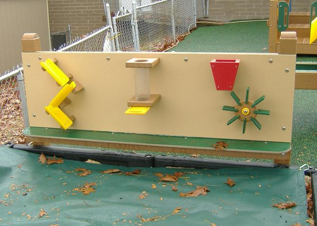 Freestanding outdoor sand play wall for children in akron ohio