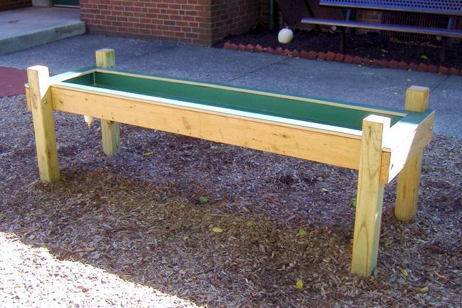 A Simple Water Table With A Wood Frame